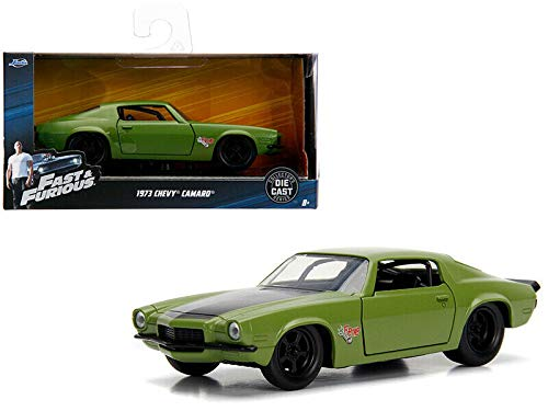 New DIECAST Toys CAR JADA 1:32 W/B - Metals - Fast & Furious - DOM'S 1973 Chevrolet Camaro F-Bomb (Green) 99521 (Fast And The Furious 1 Green Car)