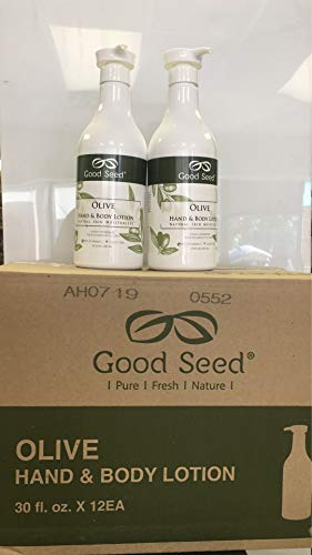 Good Seed Olive Hand & Body Lotion,30FLOZ. 2 Bottles