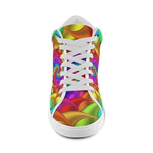 Artsadd Psychédélique Arc-en-spirale Chukka Toile Chaussures Pour Hommes (model003)