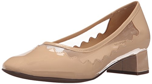 Trotters Women's Lark Dress Pump, Nude, 7.5 W US
