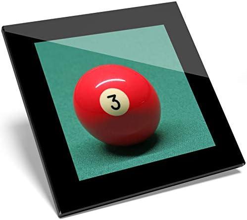 1 posavasos de cristal con número rojo de bola de billar # 2413: Amazon.es: Hogar