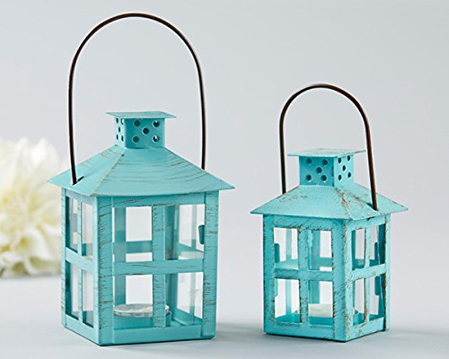 20 Vintage Blue Distressed Lanterns - Medium by Kate Aspen (Image #1)