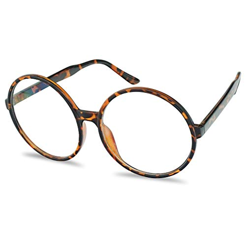 Happy Halloween Trailer Park Boys (Vintage Inspired Round Super Oversized Clear Lens Fashion Circle Eye Glasses (Tortoise,)