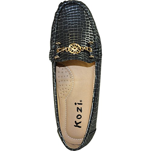 Kozi Women Comfort Shoe Th6255_black Con Punta Rotonda Tonda 39m