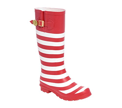 and Initial Lillybee White Red Z Rainboots U EXqaXH