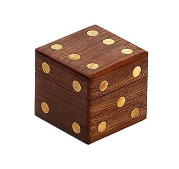 Amazon Com Starzebra Handmade 2 4 Wooden Dice Box Storage With 5