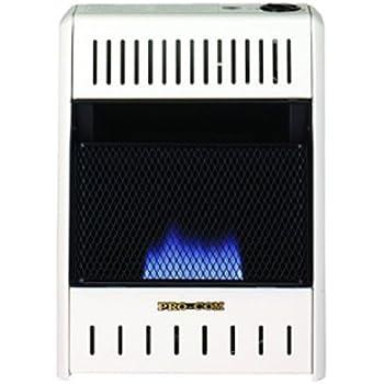 PROCOM Blue Flame Wall Heater - 10,000 BTU Output, 300 Sq. Ft. Heating Capacity