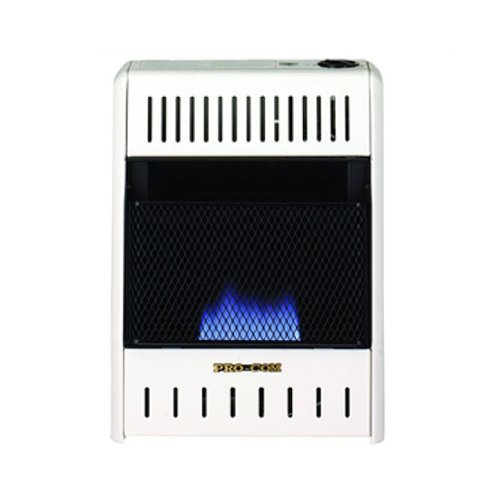 PROCOM Blue Flame Wall Heater - 10,000 BTU Output, 300 Sq. Ft. Heating Capacity