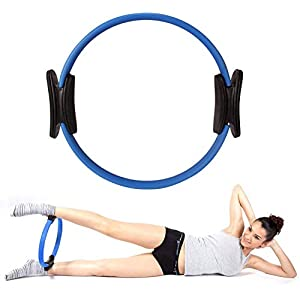 RYLAN Yoga Pilates Ring Magic Circle Exercise Ring for Core Stretching Full Body Relaxation and Improving Backbends Toning and Fitness Workouts, Excersice Equipment for Home