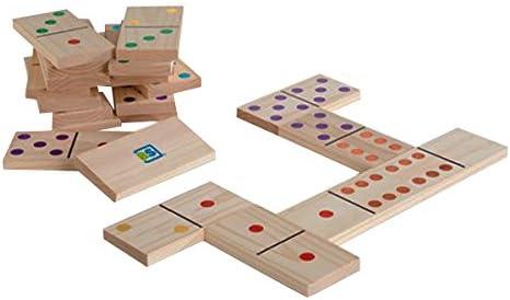 BS Toys-Domino Juego de Madera con 28 Piezas Gigantes, Color (Multi Colored) (BuitenSpeel B.V. GA278): Amazon.es: Juguetes y juegos