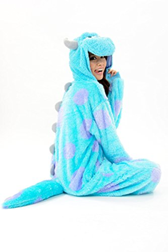 Womens Sully Costumes (Es Unico Unisex Sulley Onesie Kigurumi Costume For Adult)