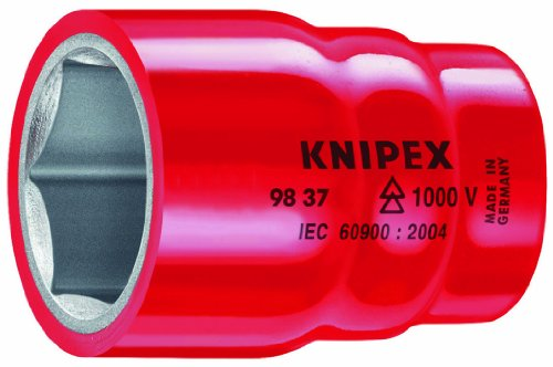 KNIPEX 98 37 13 3/8 1,000V Insulated 13 mm Hexagon Socket