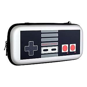 REDLEMON Funda Protector Retro para Nintendo Switch con Compartimento para Complementos y Cartuchos, Resistente a Golpes y Caídas, Interior Aterciopelado. Estuche Transportador para Consola.