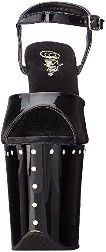 Black Pleaser Flamingo Women's Sandal Black 809abls Patent Awa0zFqR
