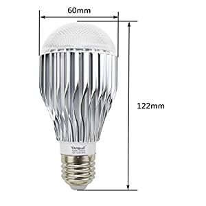 Yangcsl 10W RGBW LED Light Bulb Color Changing and Daylight White Dimmable with Remote Control