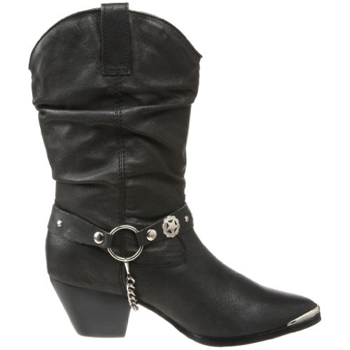 Dingo Womens Olivia Slouch Boot Nero