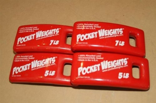 Lead Weight Packages 24lbs (2x5lb, 2x7lb) perfect for Scuba Diving BCs