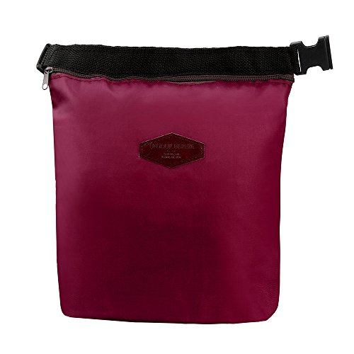 HighlifeS Lunch Bag Waterproof Thermal Fashion Cooler Insulated Lunch Box More Colors Portable Tote Storage Picnic Bags (Wine Red) by HighlifeS (Image #7)