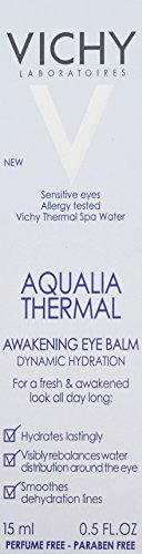 Vichy Aqualia Thermal Awakening Eye Cream with Pure Caffeine for Dark Circles and Puffiness, 0.5 Fl. Oz.