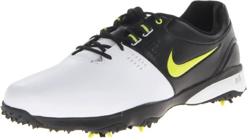 Nike Golf Men's Nike Air Rival III Golf Shoe,White/Black//Venom Green,12 M US