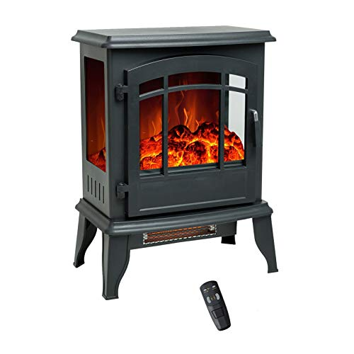 Flame Shade 58 Cm Electric Fireplace Wood Stove Portable Freestanding Indoor Space Heater With Remote Control Timer Discounted Shop
