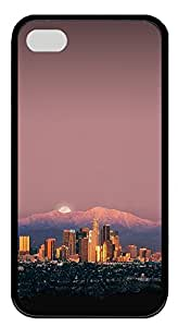 iPhone 4 4s Cases & Covers - Los Angeles TPU Custom Soft Case Cover Protector for iPhone 4 4s - Black