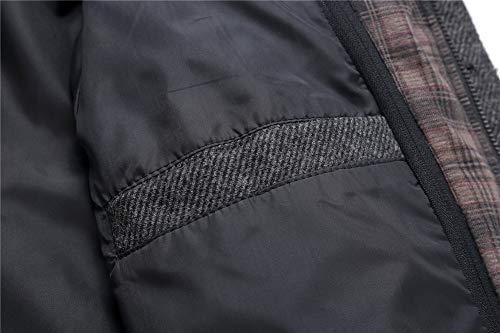 Invierno Lana Hombre Trench Sysky Abrigo Largo Chaquetas Otoño 7Aqn61R