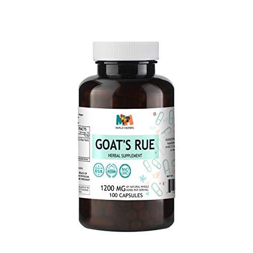 Goat's Rue Capsules, 1200 MG per Serving, Organic Goat's Rue Herb (Galega officinalis) (100 Capsules)