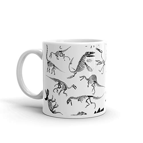 (Dinosaur Skeleton Diagrams Mug 11 Oz White)