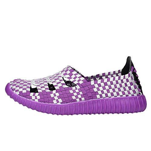 Deportivas Seguridad Running Plataforma Zapatillas Comodos Mujer Morado Botines Logobeing Zapatos Con Deportivos R4OqW8W56