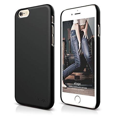 iPhone 6S Plus Case, elago [Slim Fit 2][Soft Feel Black] - [Light][Minimalistic][True Fit] - for iPhone 6 Plus/6S (Phone Covers For Iphone 6 Elago)