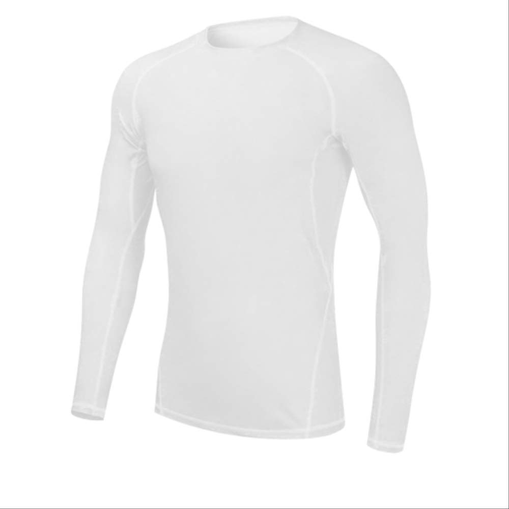 blanc L NUASH Wicking Compression Collants Chemisier Sportswear Fitness Train Costume Sport FonctionneHommest Yoga T-Shirt Musculation