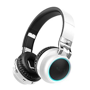 Y1Cheng Auriculares Bluetooth Auricular Bluetooth Inalámbrico 24 Horas Tiempo De Trabajo Apoyo TF Tarjeta De Luces