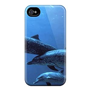 DGENDS Pretty Animals Ocean Dolphins Case Cover Iphone 4/4s Series High Quality Case