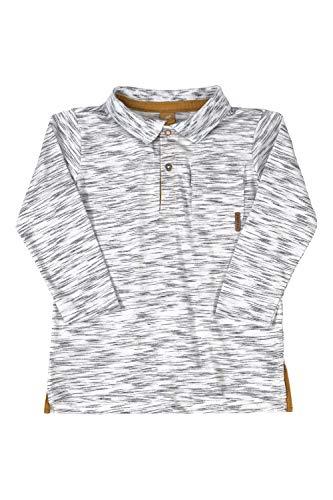 Camisa polo Polo Manga Longa Getblack, Up Baby, Meninos, Branco, 10