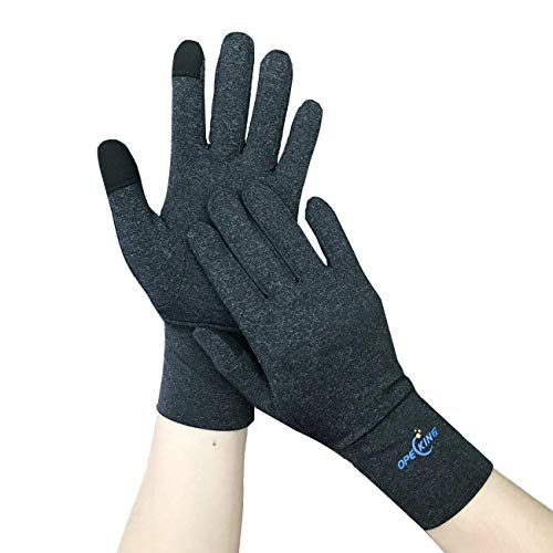 Compression Gloves for Arthritis, Hand Brace Full Finger, Raynaud Gloves Women with Touch Screen, Breathable Hand Warm Gloves Relieve Rheumatoid, Raynauds Disease & Carpal Tunnel (Best Heated Gloves For Raynaud's Syndrome)