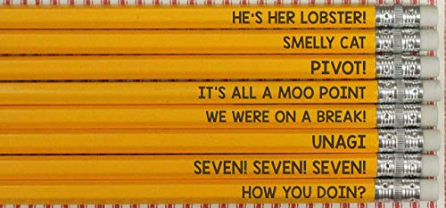 Friends TV Show Quotes Funny Pencils Back To School Student Gifts ()