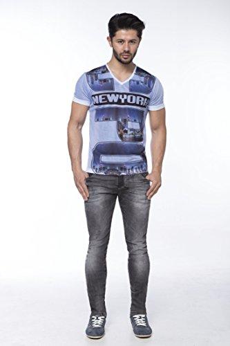 CIPO&BAXX - Vaquero - para hombre azul gris 34W x 32L