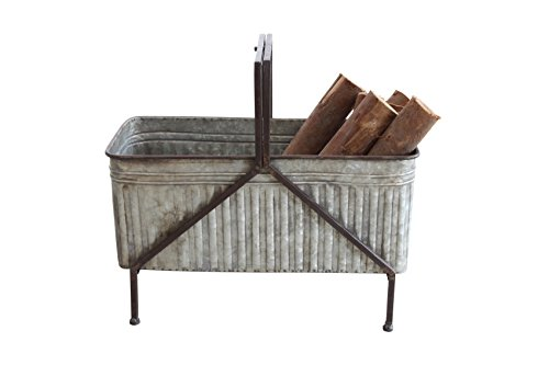 Creative Co-OP Iron Planter on Stand with Handle
