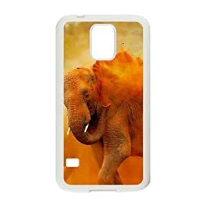 Bathing Elephant Unique Design Cover Case with Hard Shell Protection for SamSung Galaxy S5 I9600 Case lxa#844526
