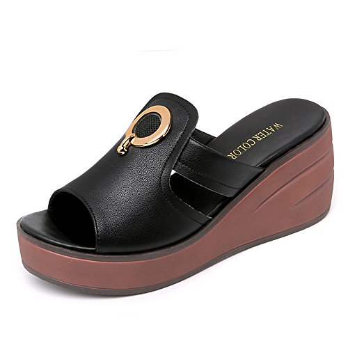 Japonais Semelle Pantoufles Pente Mode Guang 39 De 35 Avec white Épaisse Black Sandales Femmes Style Nouvelle Xing Liège Été Usure Chaussures À Chaussures Des qvZnw7xY5x
