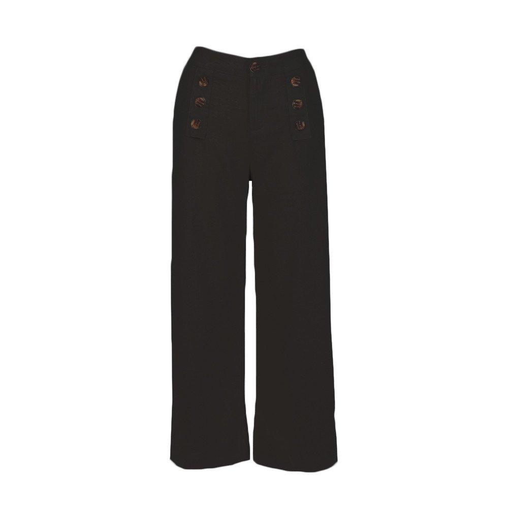 Pantalones Anchos para Mujer Otoño Invierno 2018 Moda PAOLIAN Casual Pantalones Acampanados de Vestir Cintura Alta Fiesta Palazzo Pantalones de Pinza ...