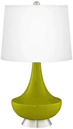 Olive Green Gillan Glass Table Lamp Amazon Com