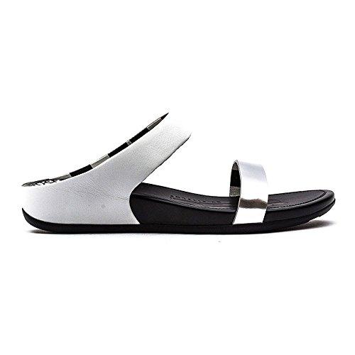 Fitflop Banda Slide Damen Sandalen/Flip-Flops Metallisch