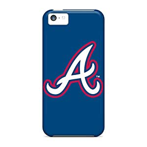 JonBradica Iphone 5c Durable Cell-phone Hard Covers Support Personal Customs Beautiful Atlanta Braves Pattern [GBf12642IHMv]