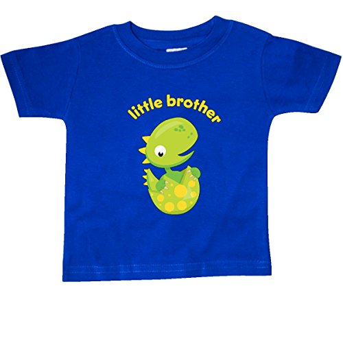 inktastic - Little Brother Dinosaur Baby T-Shirt 24 Months Royal Blue - Little Brother Dinosaur