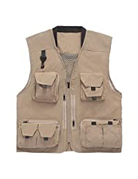 Vest Geography Photography Vest Male Multi-Pocket Outdoor Vest Fishing Waterproof Quick-Drying Vest ZHJING (Size : M)
