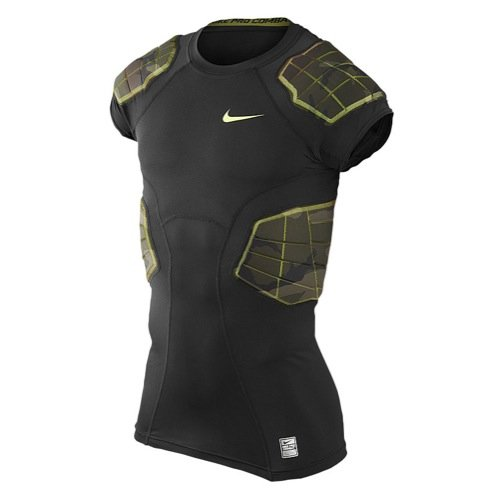Nike Pro Combat Hyperstrong Compression Shirt Camo 4 Pads (Nike Foam Shoulder Pads)
