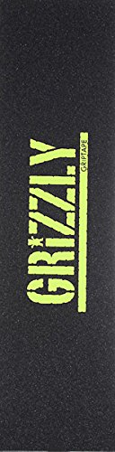 Grizzly Stamp Black/Lemon Griptape - Single Sheet by Grizzly
