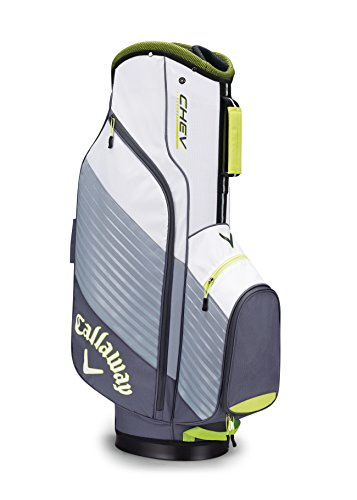 Callaway Golf Chev Cart Bag Golf Bag Cart 2017 Chev Titanium/White/Neon Green